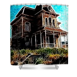 Psycho House Shower Curtain by Paul Van Scott