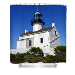 Pt. Loma Lighthouse Shower Curtain by Carla Parris