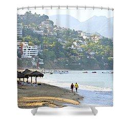 Puerto Vallarta Beach Shower Curtain by Elena Elisseeva