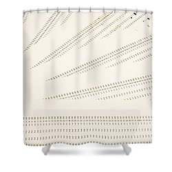 Punch Cards Shower Curtain by Photo Researchers, Inc.