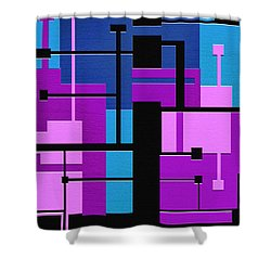 Punch Shower Curtain by Ely Arsha