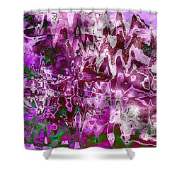 Purple Abstract Shower Curtain by Carol Groenen