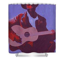Purple Blues Shower Curtain by Kaaria Mucherera