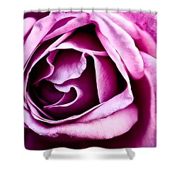 Purple Folds Shower Curtain by Christopher Holmes