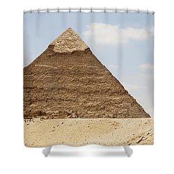 Pyramid Of Khafre Chephren, Giza, Al Shower Curtain by Peter Langer
