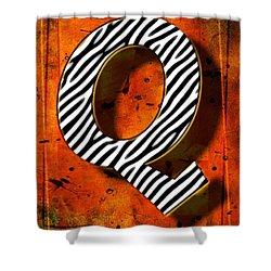 Q Shower Curtain by Mauro Celotti