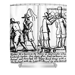 Quaker Persecution Shower Curtain by Granger
