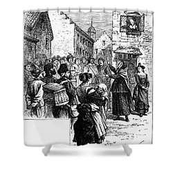 Quaker Preaching, 1657 Shower Curtain by Granger