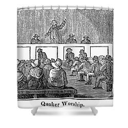 Quaker Worship, 1842 Shower Curtain by Granger