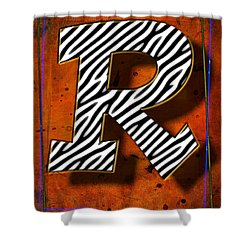 R Shower Curtain by Mauro Celotti