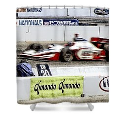 Racing Shower Curtain by Donna Blackhall