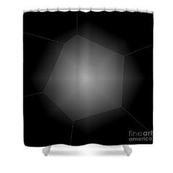 Radiance - Abstract Art Shower Curtain by Carol Groenen
