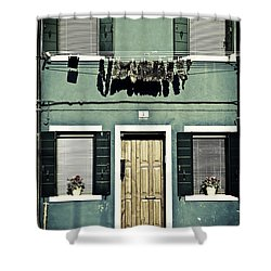 rags in Venice Shower Curtain by Joana Kruse