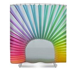 Rainbow 2 Shower Curtain by Steve Purnell