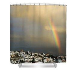 Rainbow Over Granada Yesterday Shower Curtain by Guido Montanes Castillo