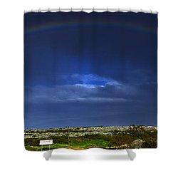 Rainbow Shower Curtain by Stelios Kleanthous
