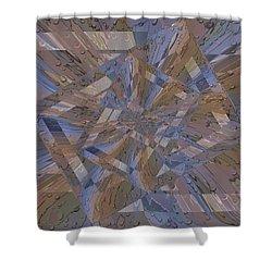 Rainy Day Portal 3 Shower Curtain by Tim Allen