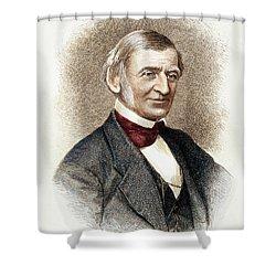 Ralph Waldo Emerson   Shower Curtain by Granger