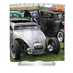 Rat Rod Many Parts Shower Curtain by Kym Backland