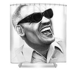 Ray Charles Shower Curtain by Murphy Elliott