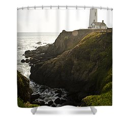 Ray Of Light Shower Curtain by Heather Applegate