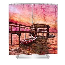Ready To Sail Shower Curtain by Debra and Dave Vanderlaan