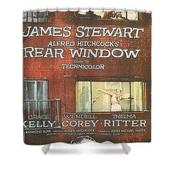 Rear Window Shower Curtain by Georgia Fowler
