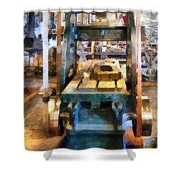 Reciprocating Flatbed Planer Shower Curtain by Susan Savad