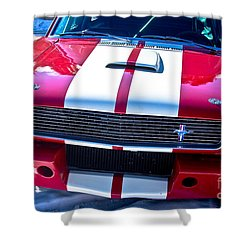 Red 1966 Mustang Shelby Shower Curtain by James BO  Insogna