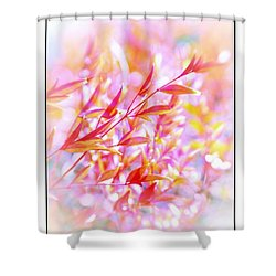 Red And Yellow Leaves Shower Curtain by Judi Bagwell