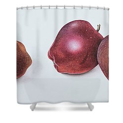 Red Apples Shower Curtain by Margaret Ann Eden