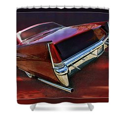 Red Cadillac Shower Curtain by Blake Richards