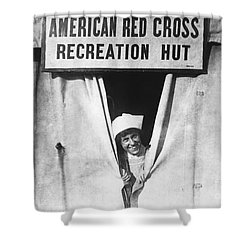 Red Cross Nurse, 1918 Shower Curtain by Photo Researchers