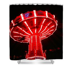 Red Ride Is Wild Shower Curtain by Kym Backland
