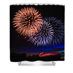 Red White And Blue Shower Curtain by Robert Bales