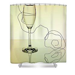 Reflection 01 Shower Curtain by Nailia Schwarz