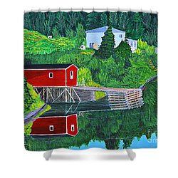Reflections H D R Shower Curtain by Barbara Griffin
