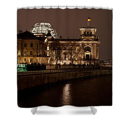 Reichstag Landscape Shower Curtain by Mike Reid