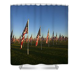 Remember 911 Shower Curtain by Mike  Dawson