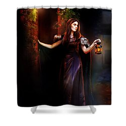 Rendevouz Shower Curtain by Mary Hood