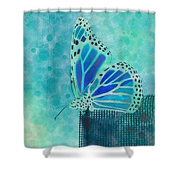 Reve De Papillon - S02a2 Shower Curtain by Variance Collections