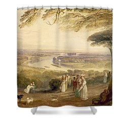 Richmond Terrace Shower Curtain by Joseph Mallord William Turner