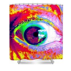 Rico's Eye Shower Curtain by Renate Nadi Wesley