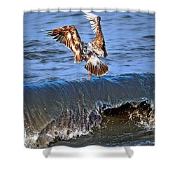 Riding The Wave  Shower Curtain by Debra  Miller
