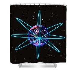 Rings Around The Earth Shower Curtain by Stocktrek Images