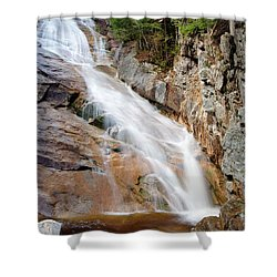 Ripley Falls - Crawford Notch State Park New Hampshire Usa Shower Curtain by Erin Paul Donovan