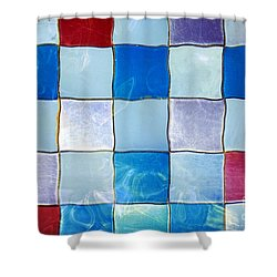 Ripple Tiles Shower Curtain by Carlos Caetano