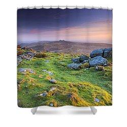 Rippon Tor Shower Curtain by Sebastian Wasek