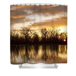 Rising Sun At Crane Hollow Shower Curtain by James BO  Insogna