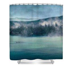 River Song Shower Curtain by Priska Wettstein